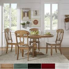 eleanor oak solid wood oval table napoleon back 5 piece dining set by inspire q