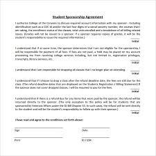 sponsorship agreement sponsorship agreement form template sponsorship agreement form