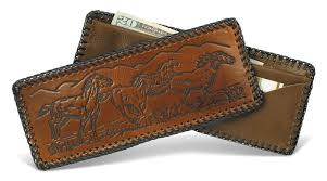 wallet laced leather wallet assorted designs made in usa