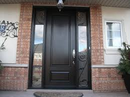 exterior double doors wood grain doors after installation outside view fiberglass smooth single