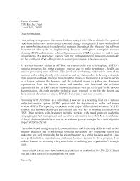 Cover Letter Sample Analyst Cover Letter Financial Analyst Sample