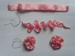 How To Make A Paper Ribbon Flower Ribbon Flower Making 4evercrafting