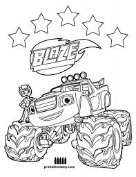 Blaze Coloring Pages Free