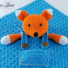 Free Crochet Lovey Pattern Impressive Fox Lovey Security Blanket PDF Crochet Pattern On Luulla