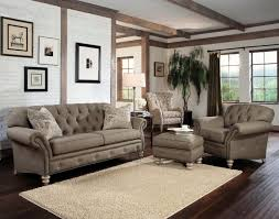 sofa chesterfield Chair living room furniture set bright carpet dark  flooring
