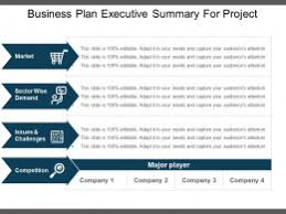 executive summery business plan executive summary for project example of ppt