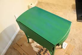 caribbean furniture. How To Get A Layered Caribbean Blue Look When Painting Furniture - Applying The Colored Glaze