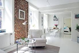 brick wall design living room dining room decorating accent wall design with bricks modern interior with