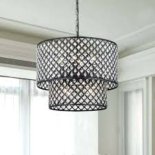 iron crystal chandelier orb