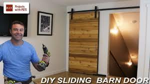 Barn Doors diy sliding barn doors photographs : How to Make a Sliding Barn Door - YouTube