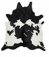 cow hide black white xl