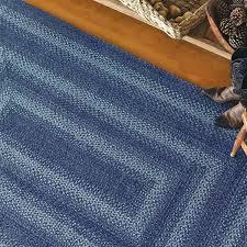 denim blue jute braided rugs