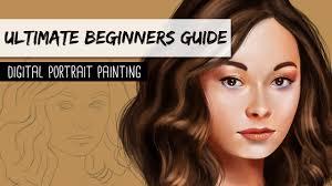 Digital Portrait Painting Ultimate Beginners Guide Digital Portrait Painting Youtube