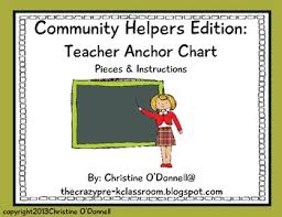 Community Helpers Chart Community Helper Anchor Chart Teacher