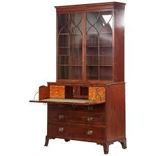 antique secretary desk with bookcase l original picture english george gany circa 1