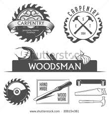 carpenter tools logo. carpentry and woodwork design elements in vintage style. retro vector illustration. - stock carpenter tools logo w