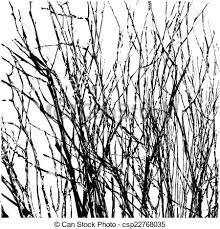 Tree Twigs Silhouette Vector