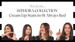 We Try On... <b>SEPHORA COLLECTION</b> Cream Lip Stain in <b>01</b> Always ...