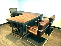 home office office tables office space interior. Modern Industrial Office Rustic Home  Furniture Desk . Tables Space Interior