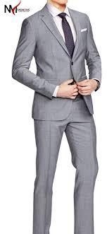 Light Grey 2 Piece Suit Hamilton Sharkskin Light Gray High Qaulity 2 Piece Suit At