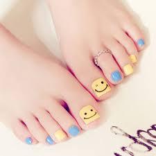 False Toe Nails Smile Fake Toenails Feet Nail Art For Summer Holiday J52 Summer Beauty Chic Toe Nails Art Tools Nail Art Decals Nail Discount From