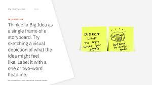 Enterprise Design Thinking Big Idea Vignettes Toolkit Activity Enterprise Design Thinking
