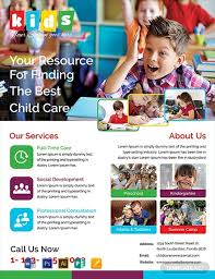 Free Child Care Flyer Template Word Psd Apple Pages