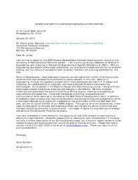 Sample Cover Letter For A Mechanical Engineering Summer Internship