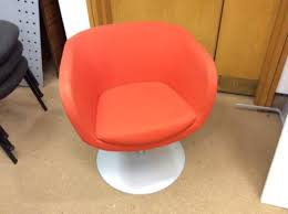orange swivel tub chairs second hand office furniture