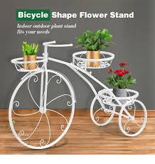 3 tier bicycle shape plant stand metal