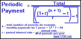 Periodic Payment Formula Periodic Payment Formula Barca Fontanacountryinn Com