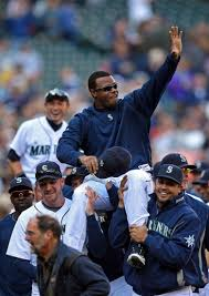 for hall of fame bound ken griffey jr it all started the ken griffey jr and ichiro were carried off the field by their teammates after the