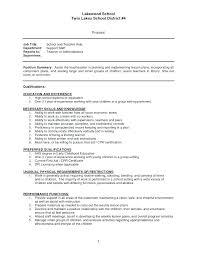 Sample Resume Teacher Assistant Sample Resume For Teaching Assistant