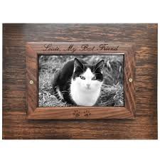 top of perfect wooden box photo frame cat urn xlarge shown engraved