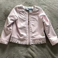 toddler pink leather jacket m child