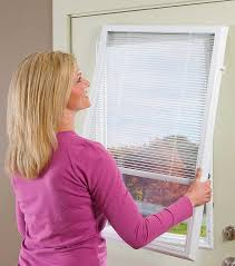 front door blindsODL enclosed blinds addon blinds built in patio door blinds
