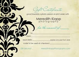 Photography Gift Certificate Template Pin By Julie On Graphic Design Pinterest Photography Gifts Gift