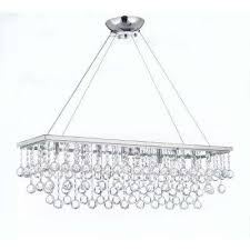 modern 10 light chrome and crystal chandelier pendant