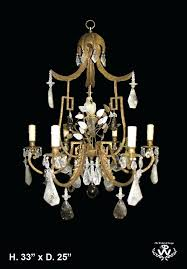 rock crystal chandelier fine uk
