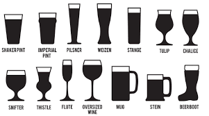 Drinking Glass Size Chart 26 Cogent Glassware For Beer Chart