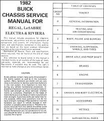 1986 buick regal wiring diagram 1986 image wiring 1982 buick regal lesabre electra riviera chassis repair shop on 1986 buick regal wiring diagram