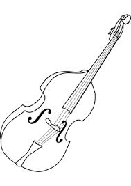 Cello Kleurplaat Gratis Kleurplaten Printen