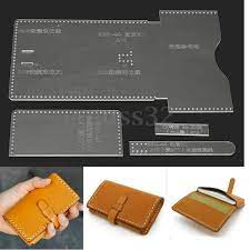 diy leather wallet pattern leather