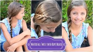 How To Make Cool Hairstyle waterfall twist rope braid summer hairstyles cute girls hairstyles 6759 by stevesalt.us