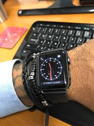 apple black leather band my watch