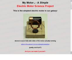 Mymotororg My Motor A Simple Electric Motor Science Fair Project