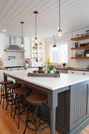 Farmhouse Kitchen Lighting Intended For Modern Kitchens Gorgeous Fixer  Upper Style Remodel 7
