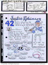 Civil Rights Quotes Mesmerizing Jackie Robinson SketchnoteInspired Art Heavy Sketches