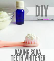 make your own baking soda teeth whitener with this simple and super effective recipe