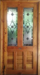 stained glass wooden doors